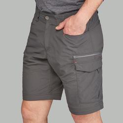 Men's Mountain trekking modular trousers - TREK 100 - Dark grey
