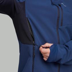 Casaco quente corta-vento trekking montanha   TREK 500 WINDWARM Homem Azul