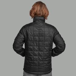 Gewatteerde jas voor bergtrekking heren Trek 100 zwart