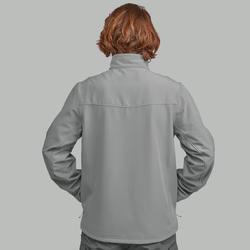 Veste chaude coupe vent de rando en montagne  TREK 100 WINDWARM gris - Homme