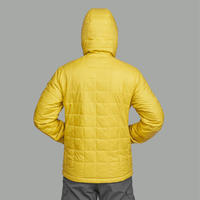 TREK 100 Mountain Trekking Hooded Padded Jacket Yellow-Men's