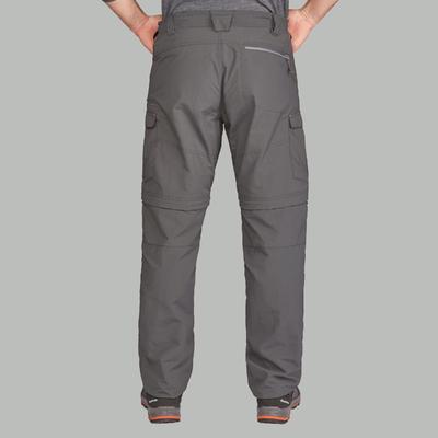 Pantalón Convertible de Excursionismo Hombre Forclaz 100 Gris oscuro