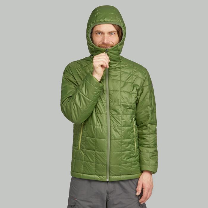 Chaqueta acolchada trekking en montaña TREK 100 CAPUCHA hombre verde