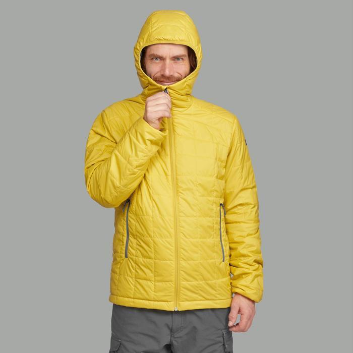 Wattierte Jacke Trek 100 Hoody Herren gelb