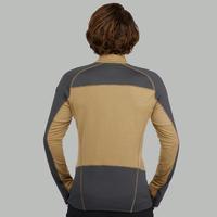 T-shirt manches longues randonnée montagne RANDO900 mérinos homme marron