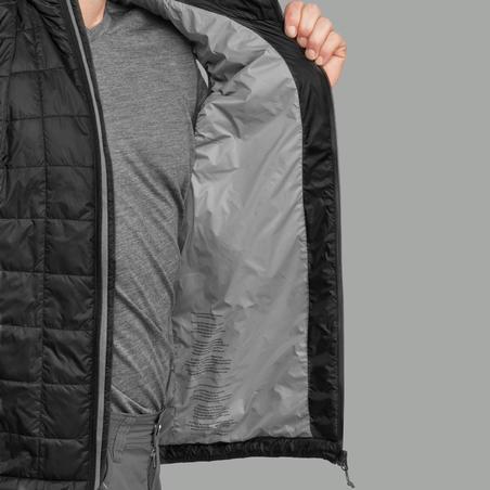 Men's Mountain Trekking Vest TREK 100 Down - Black