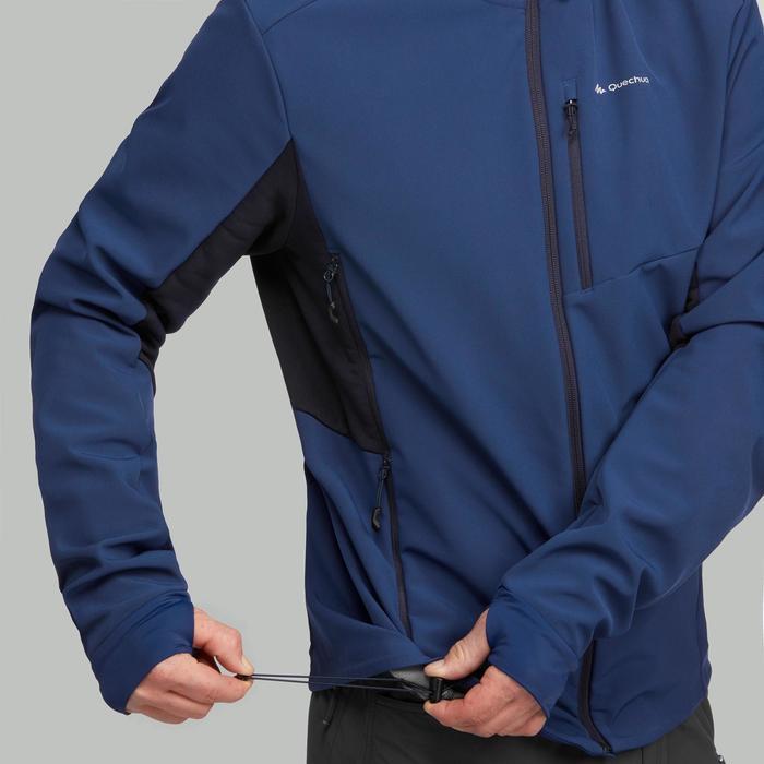 Softshell jas voor bergtrekking Trek 900 WindWarm heren blauw