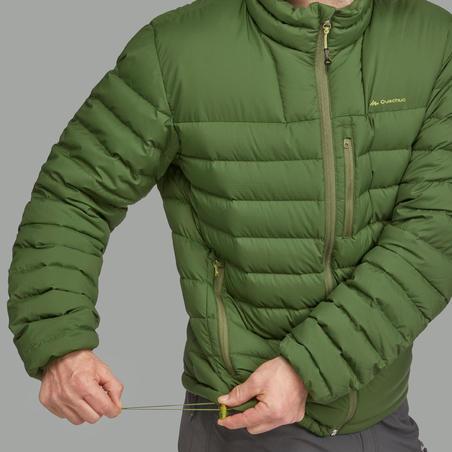 Чоловічий пуховик Trek 500 для гірського трекінгу - Зелений