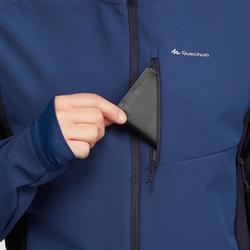 Softshelljacke Trek 500 Windwarm Herren blau
