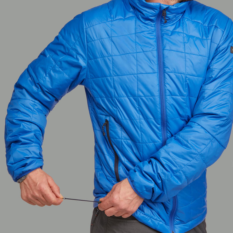 Chaqueta acolchada TREKKING montaña TREK 100 hombre azul