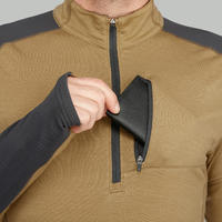 Men's Brown TREK900 Long-Sleeved Mountain Trekking Merino Shirt