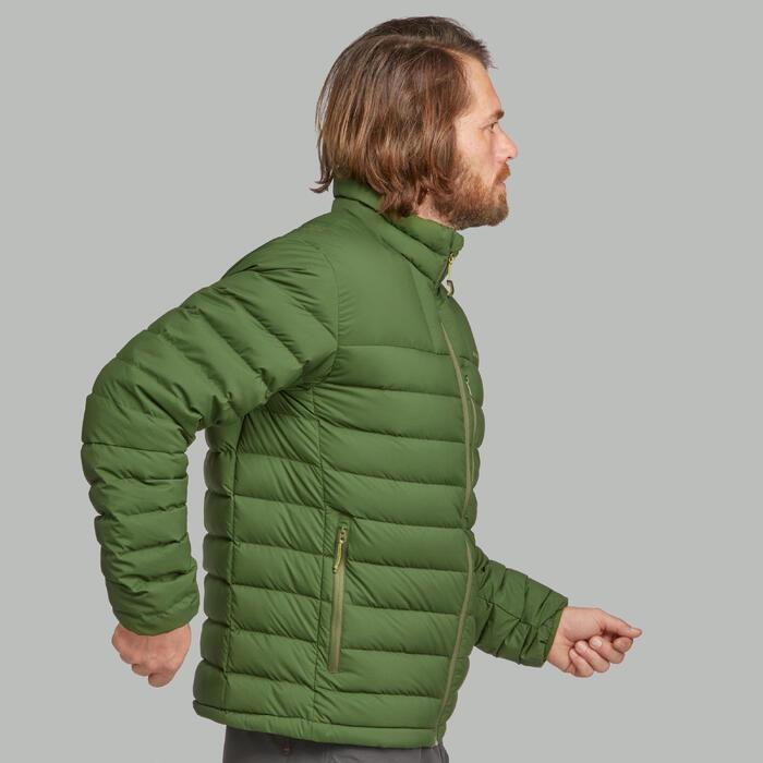 Abrigo Chaqueta Plumón Montaña Trekking Forclaz TREK500 Acolchada Hombre Verde