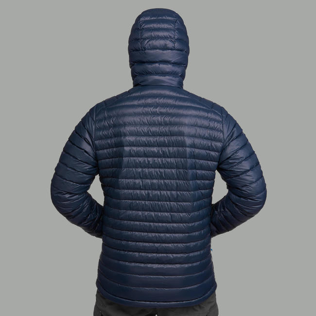 Men's Mountain Trekking Down jacket - TREK 100 DOWN - navy blue