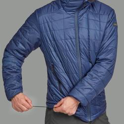 TREK 100 Mountain Trekking Hooded Padded Jacket Blue-Men's