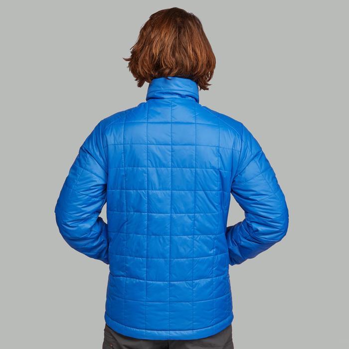 Winterjas Heren Blauw.Forclaz Gewatteerde Jas Voor Bergtrekking Trek 100 Heren Decathlon Nl