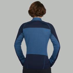 Merino shirt met lange mouwen voor bergtrekking heren Trek 900 blauw