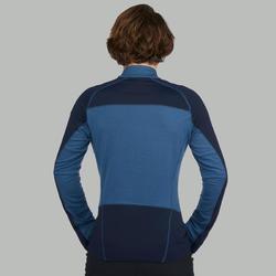 Men's Blue TREK900 Long-sleeved Mountain Trekking Merino T-Shirt
