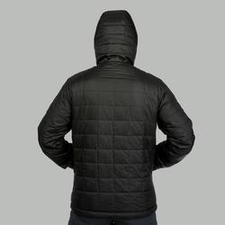 Wattierte Jacke Trek 100 mit Kapuze Herren schwarz