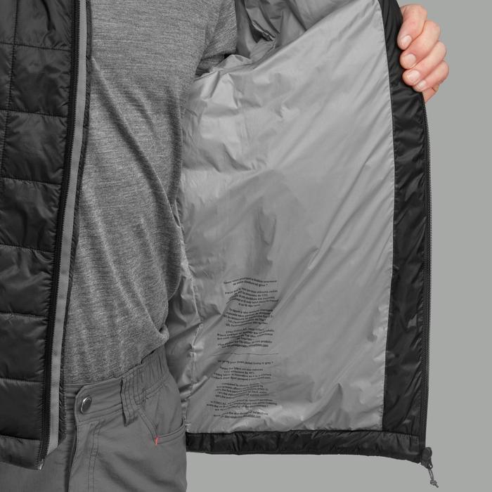 男款登山健行化纖填充外套TREK100-黑色