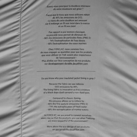 Чоловіча куртка TREK 100 для гірського трекінгу - Чорна