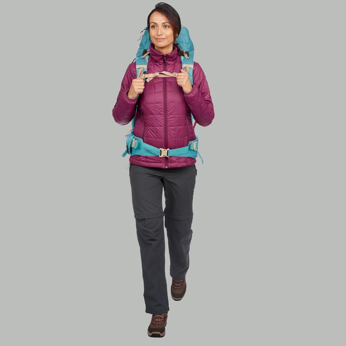 Chaqueta Acolchada de Montaña y Trekking Forclaz TREK 100 Mujer Violeta