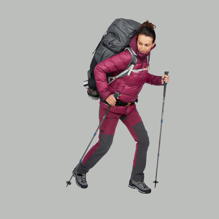WOMEN'S MOUNTAIN TREKKING DOWN JACKET - MT 900 -18°C - PURPLE