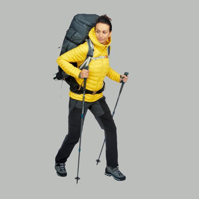 Abrigo Chaqueta Plumón Montaña y Trekking TREK100 down Acolchada Mujer Amarillo
