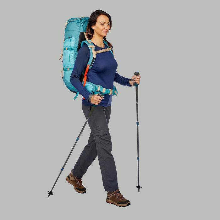 T-Shirt manches longues trekking montagne Techwool190 femme bleu