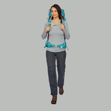 T-shirt manches longues randonnée montagne Techwool 190 femme gris
