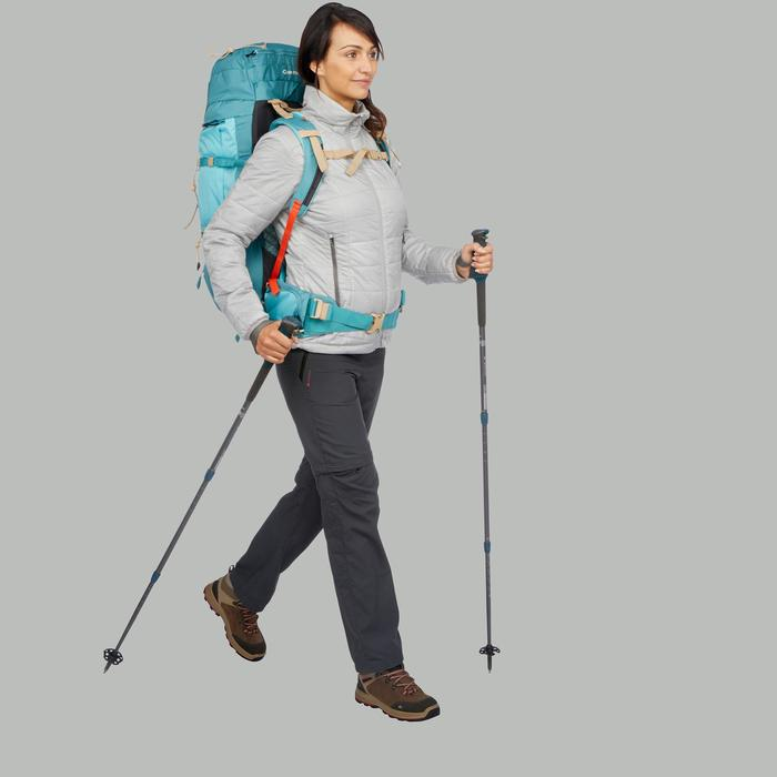 Abrigo Chaqueta Acolchada Montaña y Trekking Forclaz TREK100 Mujer Gris