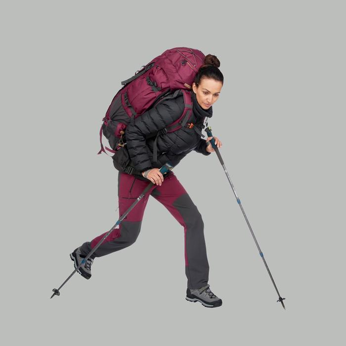 Donsjas voor bergtrekking dames Trek 500 zwart