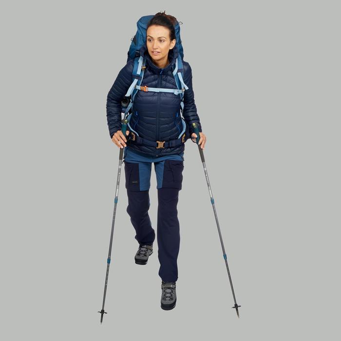 Chaqueta acolchada trekking en montaña TREK 500 mujer azul marino