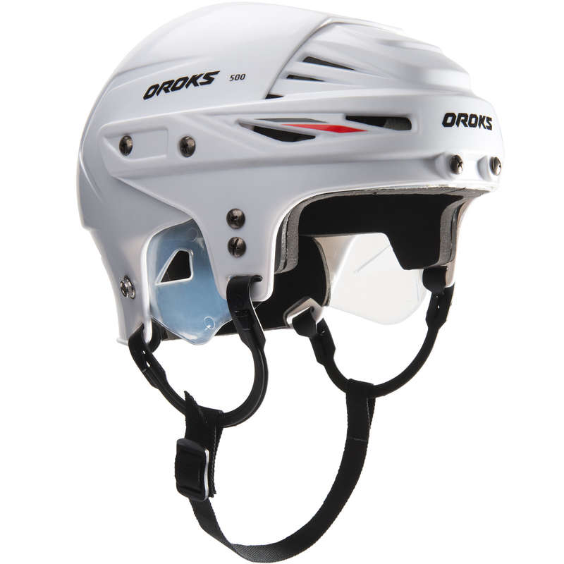 ICE HOCKEY EQUIPMENT CLUB SENIOR Roller Hockey - IH500 SR Hockey Helmet - White OROKS - Roller Hockey
