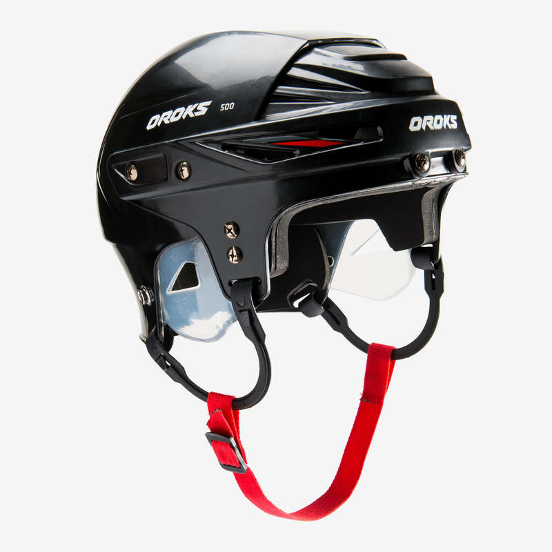 ICE HOCKEY EQUIPMENT CLUB SENIOR Roller Hockey - IH500 SR Hockey Helmet - Black OROKS - Roller Hockey