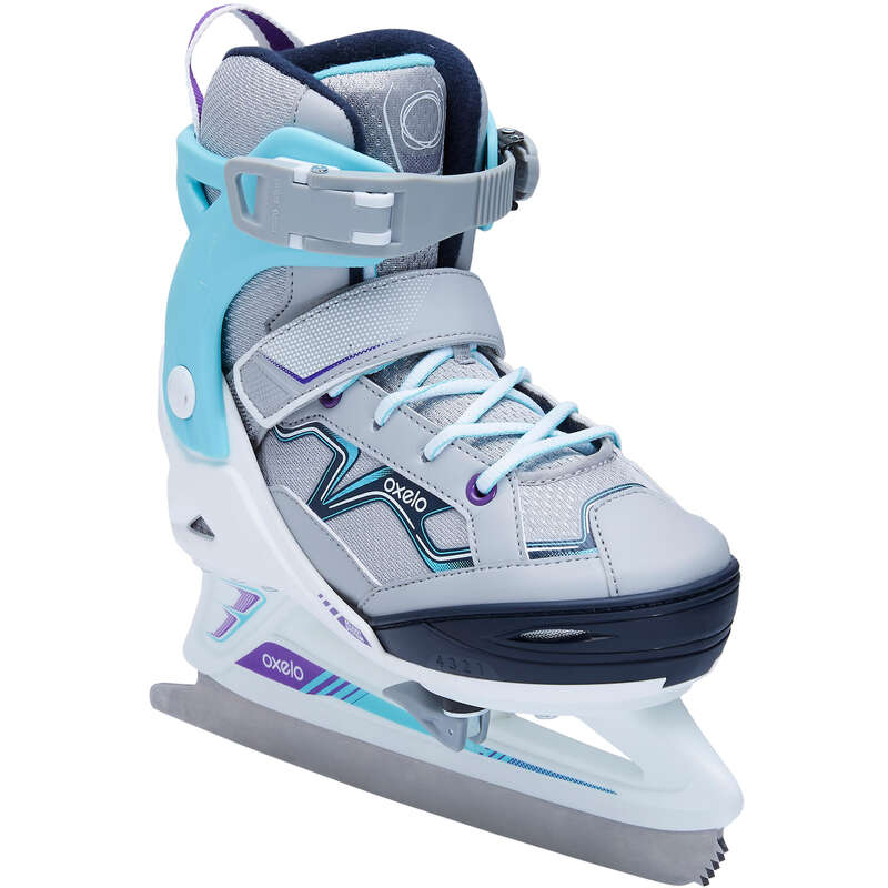 JUNIOR FITNESS ICE SKATES Ice Skating - FIT 100 Girls' OXELO - Ice Skating