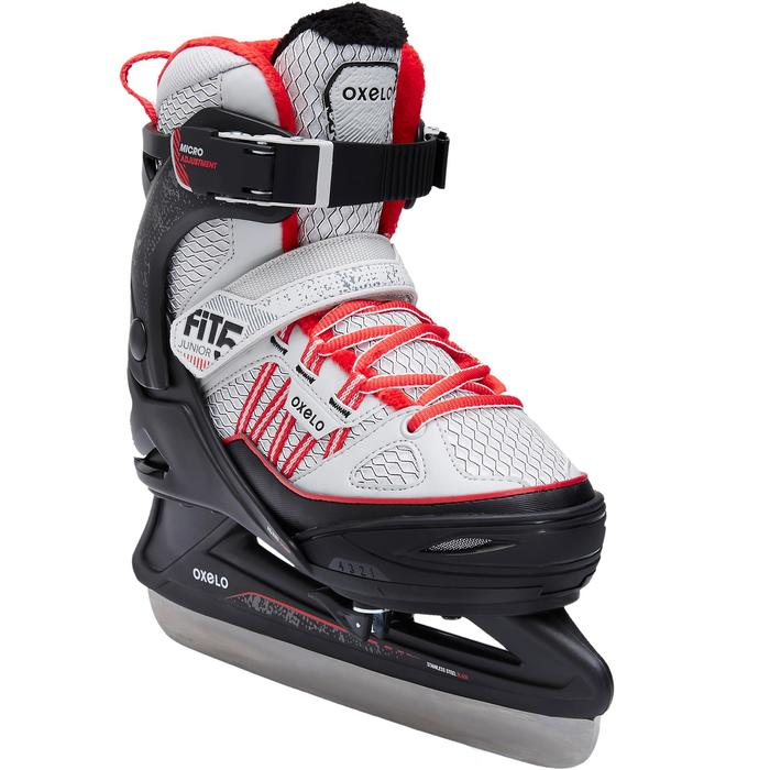 PATIN A GLACE FIT500 JR GRIS/ROUGE