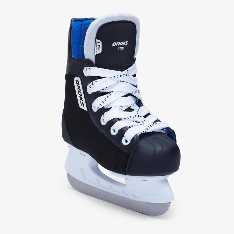 BRUSLE NA LEDNÍ HOKEJ Lední hokej - DĚTSKÉ HOKEJOVÉ BRUSLE IH 100  OROKS - Lední hokej