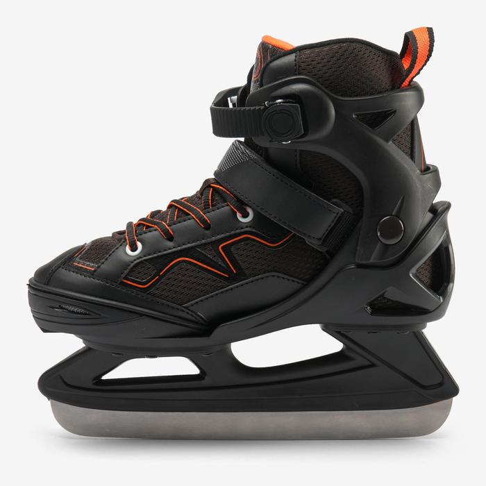 PATIN A GLACE FIT100 JR NOIR/ORANGE GARCON