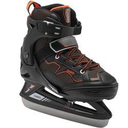 Kids' Ice Skates Fit 100 - Black/Orange