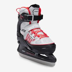 PATIN A GLACE FIT500 GRIS/ROUGE