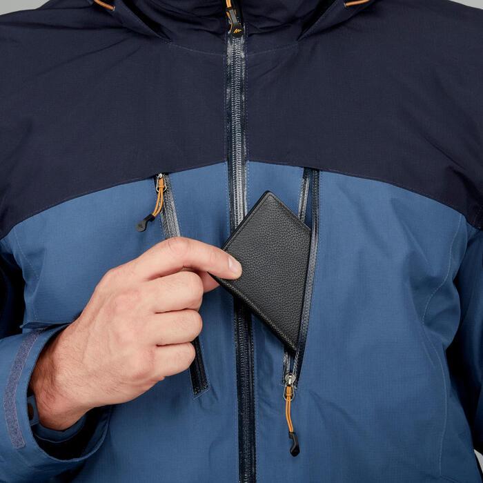 Chaqueta de trekking Rainwarm 500 3 en 1 hombre azul
