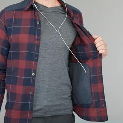 Men's Trekking Shirt Travel 100 Warm - maroon