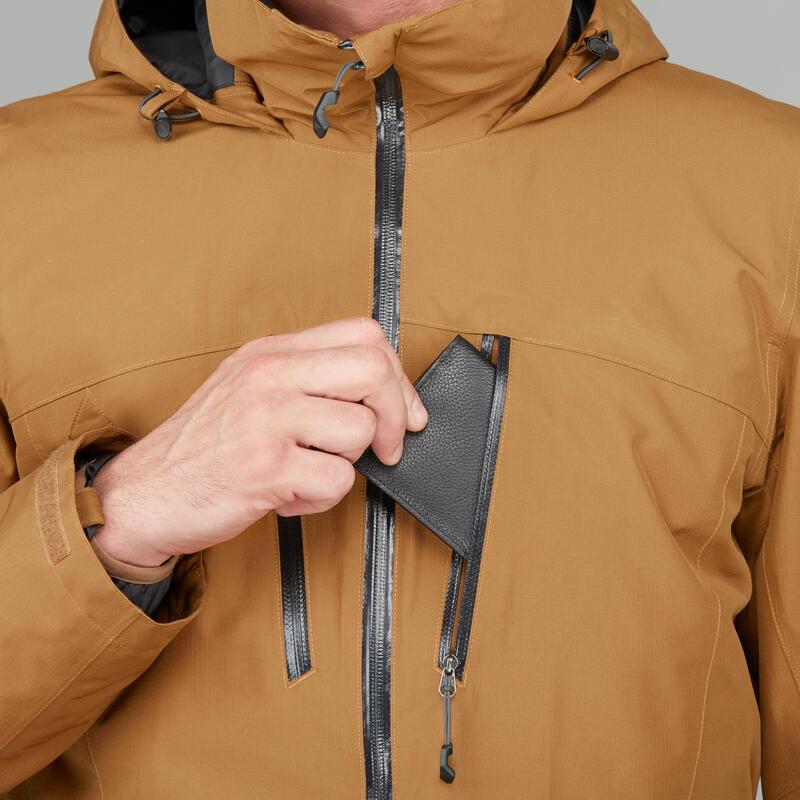 5be38b5a54df9 Camel Trekking 3en1 500 Veste Homme Quechua Rainwarm SqZnFg