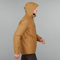 Chaqueta trekking Rainwarm 500 3en1 hombre camel