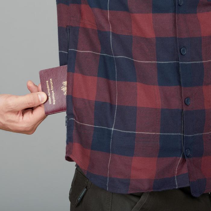 Hemd Backpacking Travel 100 Herren bordeauxrot