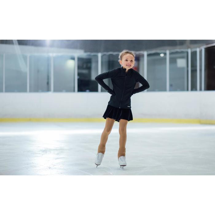 Trainingsjacke Eiskunstlauf Kinder schwarz