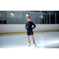 Trainingsrock Eiskunstlauf Kinder schwarz