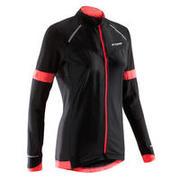 Črna ženska kolesarska majica z dolgimi rokavi 900