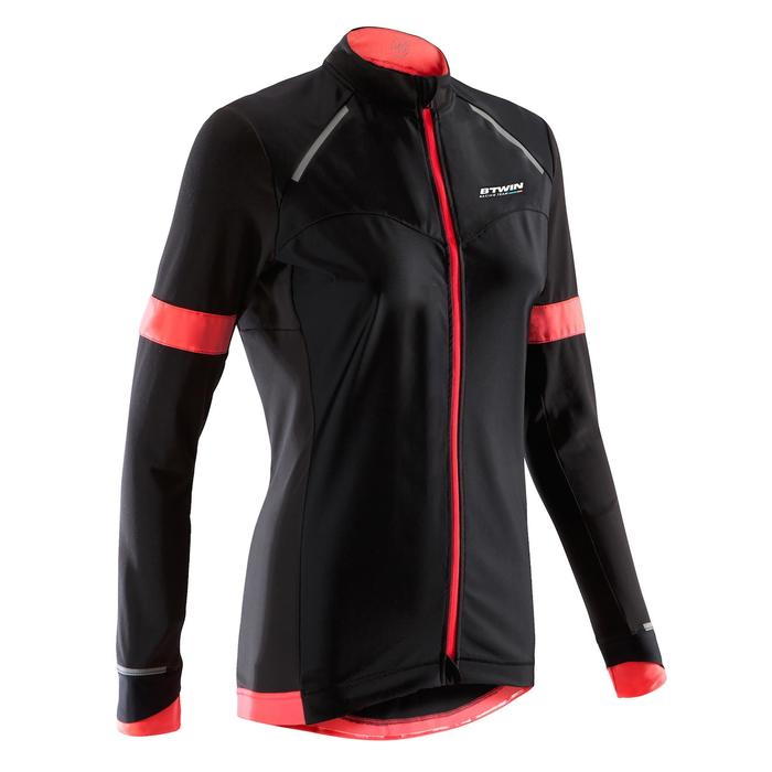 Maillot manga larga ciclismo carretera mujer 900 negro