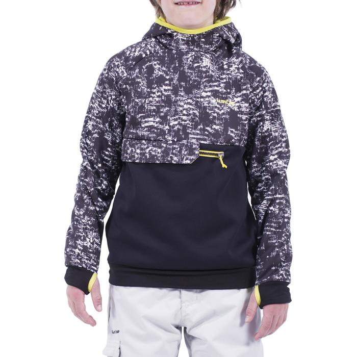 Sweatshirt de snowboard et de ski SNB HDY garçon graph noir